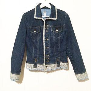 Cache Denim and Tweed Jacket ▪️